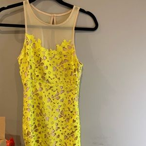 Brand new Lovers & friends yellow lace dress